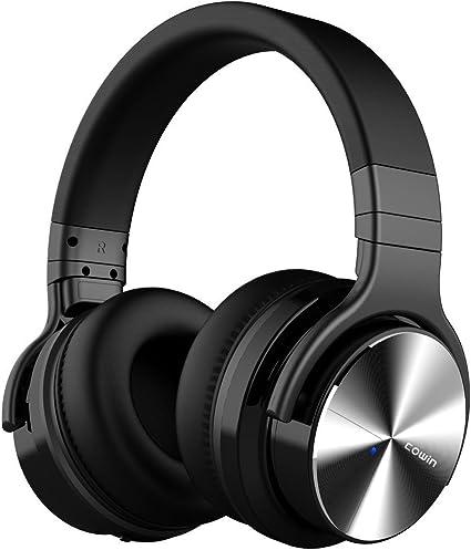 cowin E7 Pro [Mise à Jour] Casque Bluetooth Réduction de Bruit Active Casque sans Fil avec Microphone Casque Audio Autonomie De 30 Heures Noir