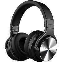 Cowin E7 PRO Active Noise Cancelling Bluetooth Kopfhörer mit Mikrofon Hi-Fi Deep Bass Wireless Kopfhörer über Ohr 30H Spielzeit für Reisen Arbeit TV Computer Telefon(Schwarz)