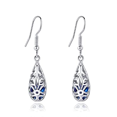The Cheapest Price Sterling Silver 925 Plate White Gold Elegant Classic Anniversary Dangel Earrings Making Things Convenient For Customers Jewelry & Watches