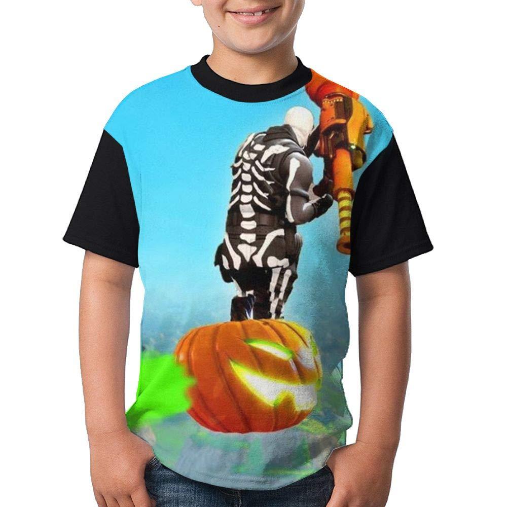 Skull Trooper Kid Boy Girl Short Sleeve Crew Neck Funny Tees T-Shirt M