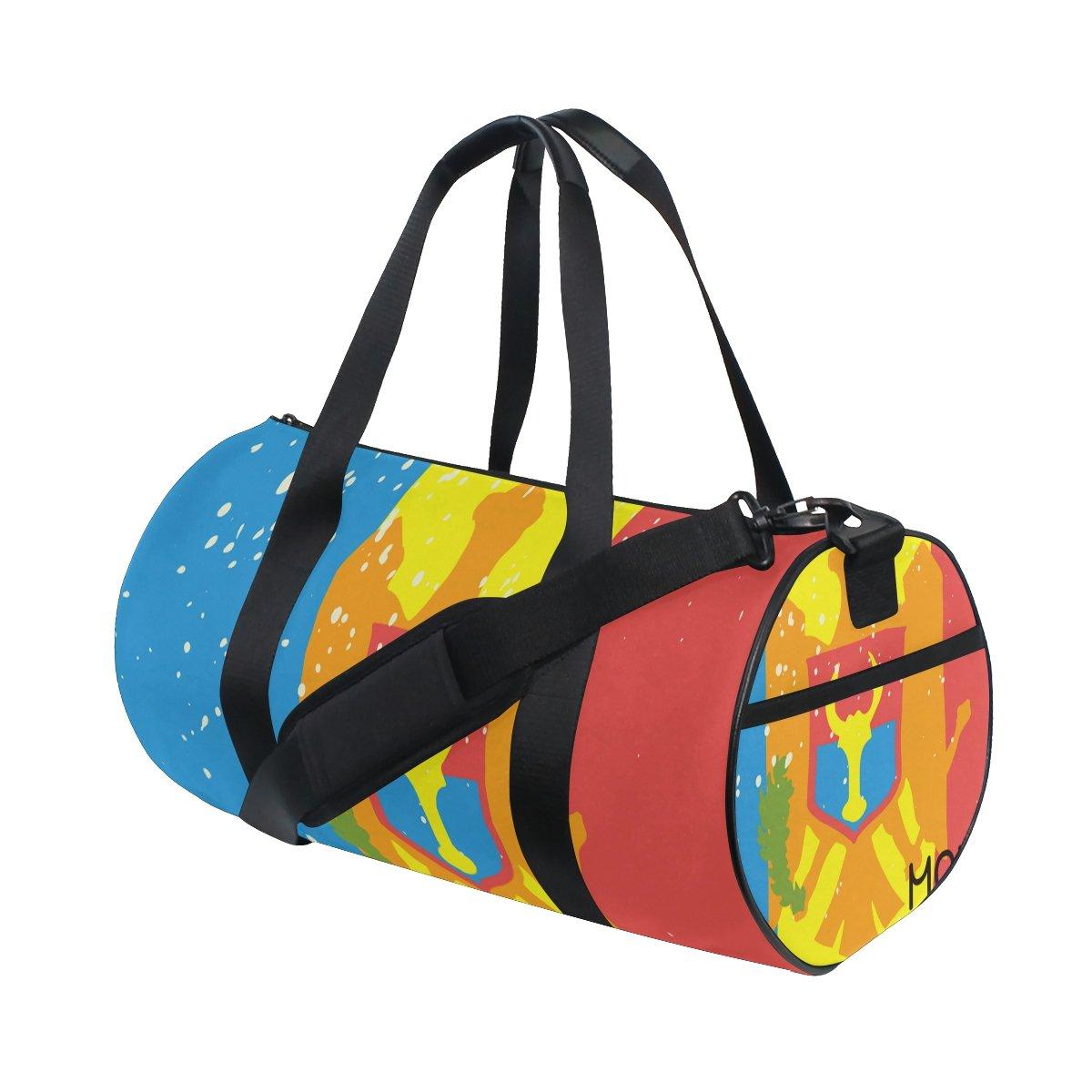 Distressed Moldovia Flag Travel Duffel Shoulder Bag ,Sports Gym Fitness Bags