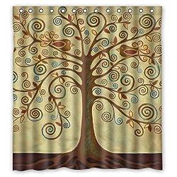 tree of life Custom Polyester waterproof Bath Shower Curtain