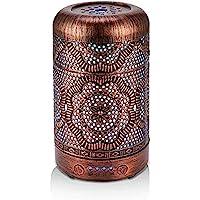 BAIESHIJI Essential Oil Diffuser, Metal Vintage Essential Oil Diffusers 100ML, Aromatherapy Diffuser with Waterless Auto…