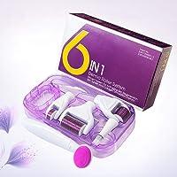Ovonni 6 in1 Derma Roller, Micro Needle, 12/300/ 720/1200 Aghi, Pulizia Viso Micro Aghi, Cura della Pelle Professionale Set di Strumenti di Bellezza, Migliora la Pelle e Riduce le Rughe