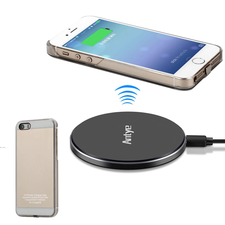 JinQiu - Cargador inalámbrico para iPhone 6/6S, Qi Wireless ...