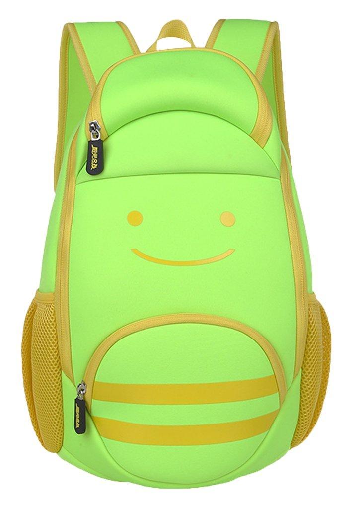 Drasawee Light Jungen Pack Tasche Rucksack Schule Buch Tasche Pack Smile Face Grundschule Mädchen Grün grün 506b8d