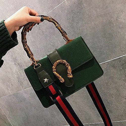 Damen Handtasche Handtasche Schultertasche Breiter Schultergurt Messenger Bag Mode Schnalle Handtasche , Grün