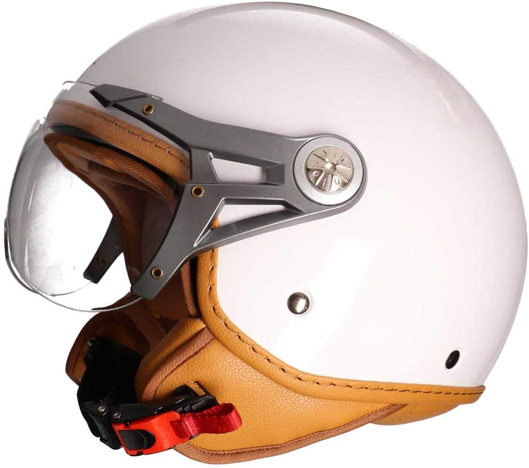 wei/ß, XS MT Soul Jet-Helm Motorrad-Helm Roller-Helm Scooter-Helm Bobber Mofa-Helm Chopper Retro Cruiser Vintage Pilot Biker ECE 22.05