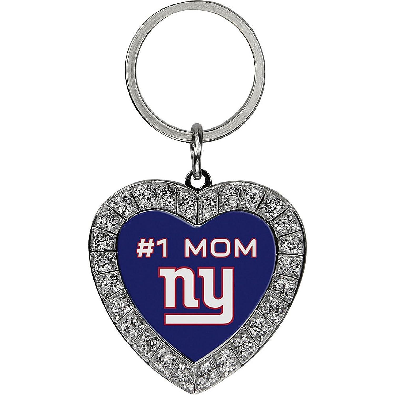 Luggage Spotters NFL NY Giants #1 Mom Rhinestone Key Chain
