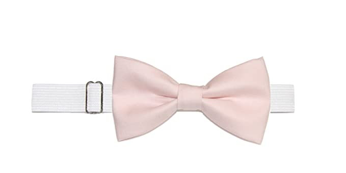 New Boys Youth Pale Pink Pre-Tied Adjustable Cotton Bow Tie