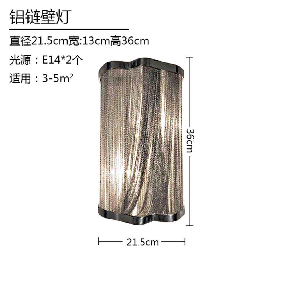 DengWu lampada da parete Il neo-classica, moderna portata dopo su Alluminio Lampada da parete a catena fine creative moderne catene metalliche personalità luce della catena di luci da parete