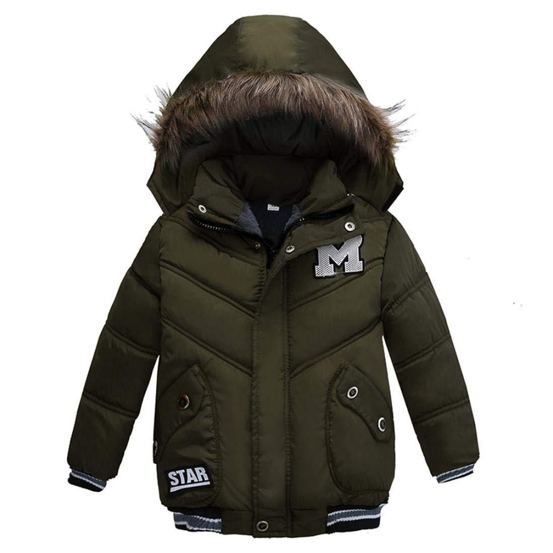 Zarupeng Abrigo cálido para niños,Ropa Niño Invierno