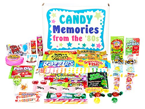 Woodstock Candy ~ Gift Box Old Time 80s Eighties Candy Retro Nostalgic Gift Assortment Memories from 1980s for Man or Woman -