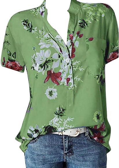TEBAISE - Camisa de Mujer con Estampado Floral de Muselina de Seda ...
