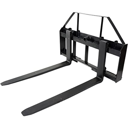 Pallet Forks Attachment for Tractors and Loaders, Skid Steer, Quick Tach,  42""