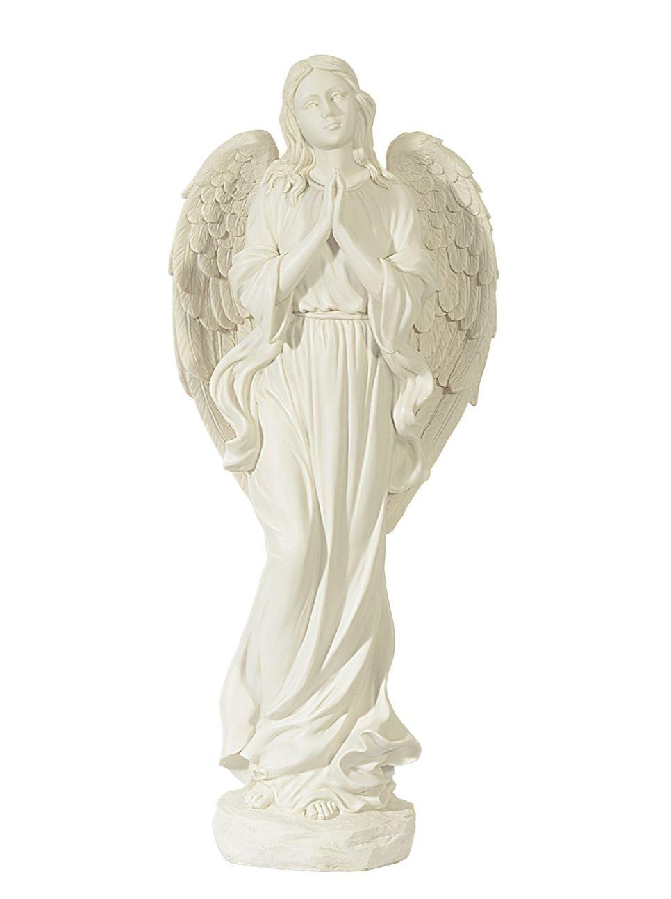 großer Engel - Schutzengel - Grabengel in Marmor Optik-wunderschön 51cm Angel nice