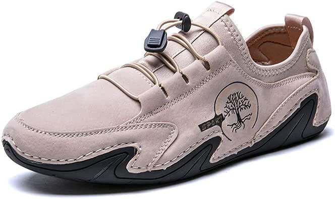 Hombres Zapatos Casuales Confort de Conducción Cuero Mocasines Gamuza Ocio Costuras a Mano Caminando Oxford Negocio Vestido Oficina Trabajo: Amazon.es: Zapatos y complementos