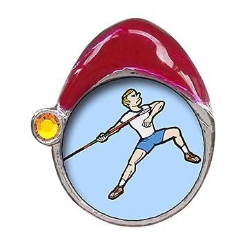 Juegos Olímpicos Atletismo la postura de tiro de jabalina de los hombres cristal topacio de noviembre Birthstone gorro de Papá encanto: Amazon.es: Hogar