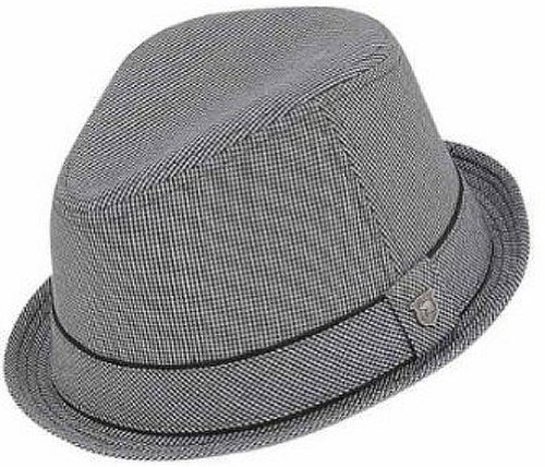 peter-grimm-duke-fedora-hat-w-striped-brim-size-l-xl-black-and-gray-checker-pattern