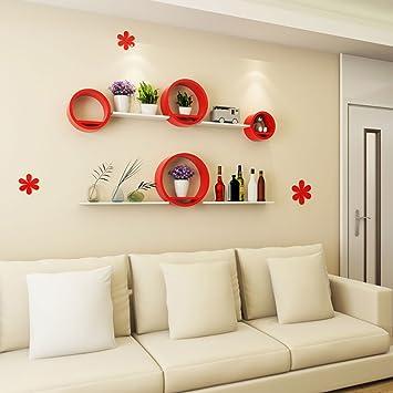 Creative Circulaire Mur étagère Salon Chambre Ronde Tv Fond Mur