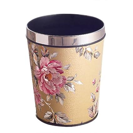 9b7d38b6c Image Unavailable. Image not available for. Color  Trash Can Wastebasket  for Bedroom Livingroom Hotel Office Waste Paper Basket ...