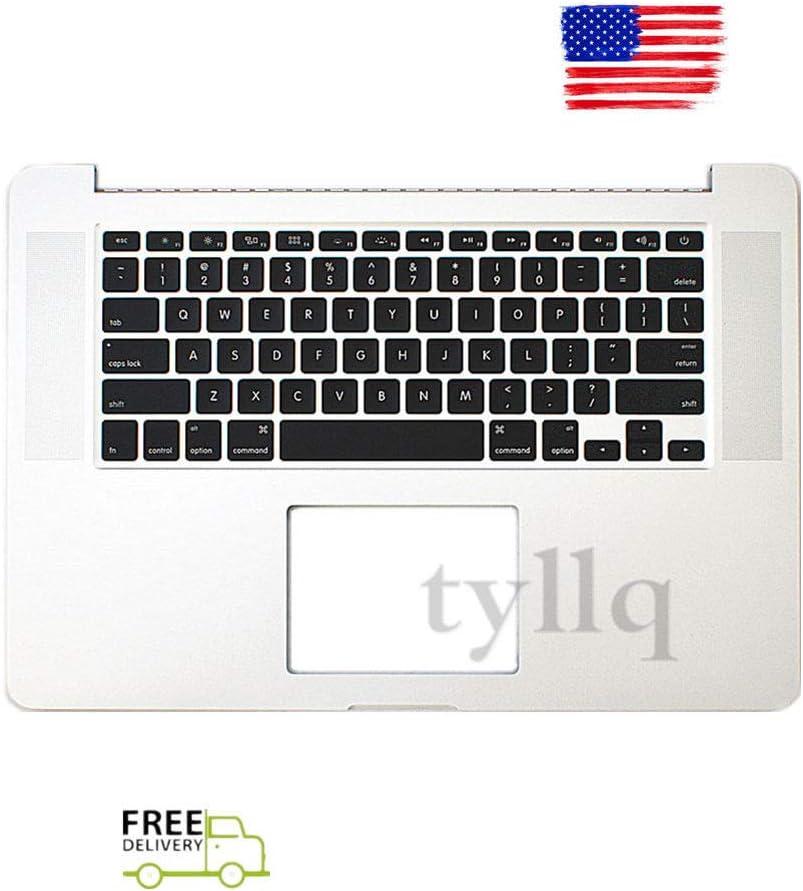 "New For Macbook Pro Retina 15/"" A1398 2015 Top case Palmrest w keyboard  US"