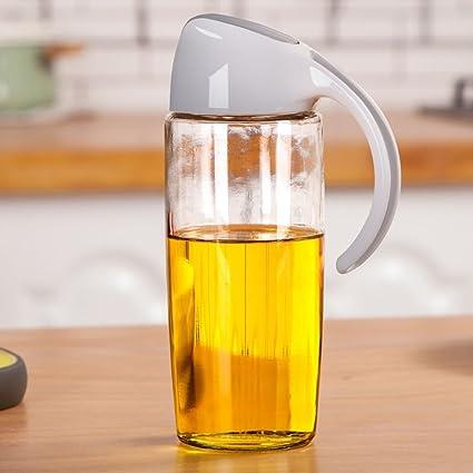 OZP Seasoning Botella de fuga Vidrio Oil Pot Abrir automáticamente la botella de aceite Grandes suministros