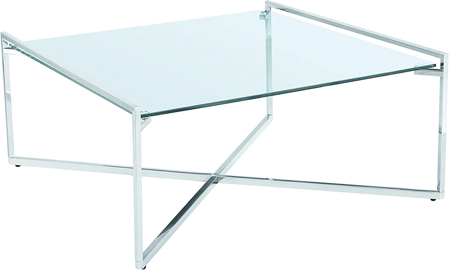 Amazon Com Uptown Club Banner Square Glass Top Coffee Table