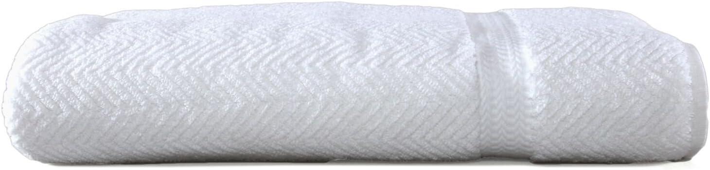 Linum Home Textiles HB00-1BS Herringbone Premium Authentic Soft 100% Turkish Cotton Luxury Hotel Collection Bath Sheet-White