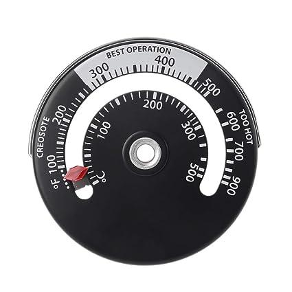 Kalttoy - Termómetro magnético para Estufa de leña, multicombustible, Estufa de leña, Tubo de Estufa: Amazon.es: Hogar