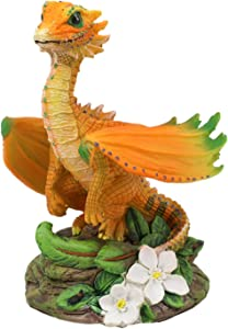 Ebros Colorful Garden Fruits and Berries Green Thumb Dragon Statue by Stanley Morrison Medieval Fairy Dragons Fantasy Decor Figurine (Orange Fruity Vitamin C Wyrmling)