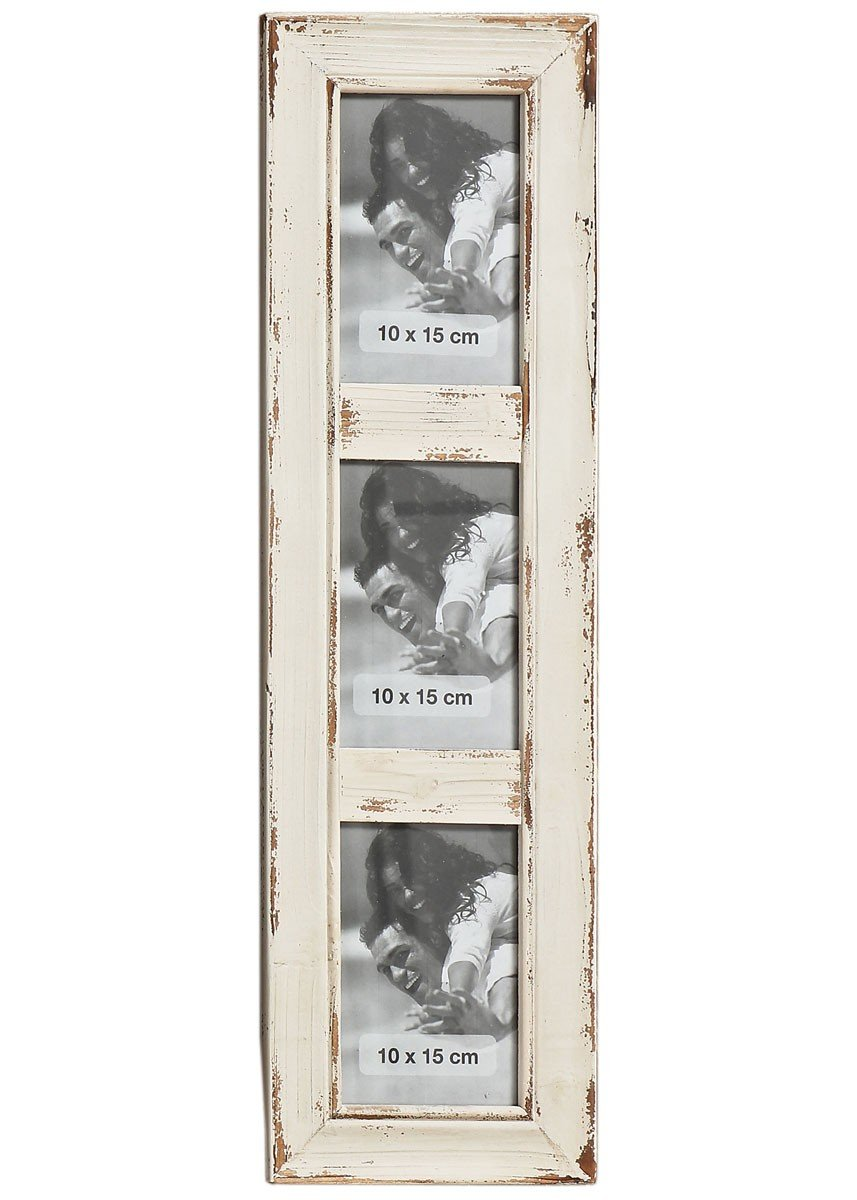 Amazon.de: Unbekannt Bilderrahmen altes Holz weiß im Shabby- Chic ...