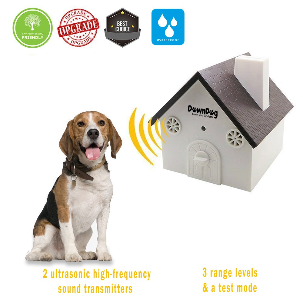 DownDog Ultrasonic anti barking device   dog bark control   stop barking device   for Small/Medium/Large Dogs   No Harm To Dogs, other Pets or Human [Upgraded, waterproof] SPECIAL LAUNCHING OFFER!!