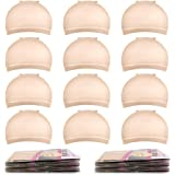 Wig Caps,MORGLES 20pcs Stretchy Nylon Wig Caps Stocking Caps For Wigs Wig Caps For Women Man (Beige)