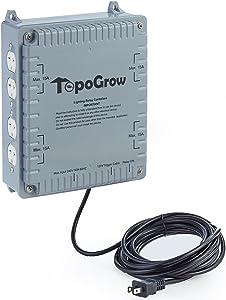 PrimeGarden 8-Light 8000w High Power HID Master 120v~240v Grow Light Relay Controller w/120 Volt Trigger Cable for Hydroponics (8-Light)