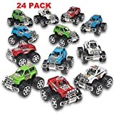Toys : Pack of 24 Monster Pullback Trucks Stocking Stuffers Party Favors