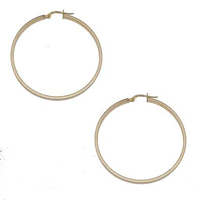 Adara Silver Oval Creole Earrings Uhw5SWE