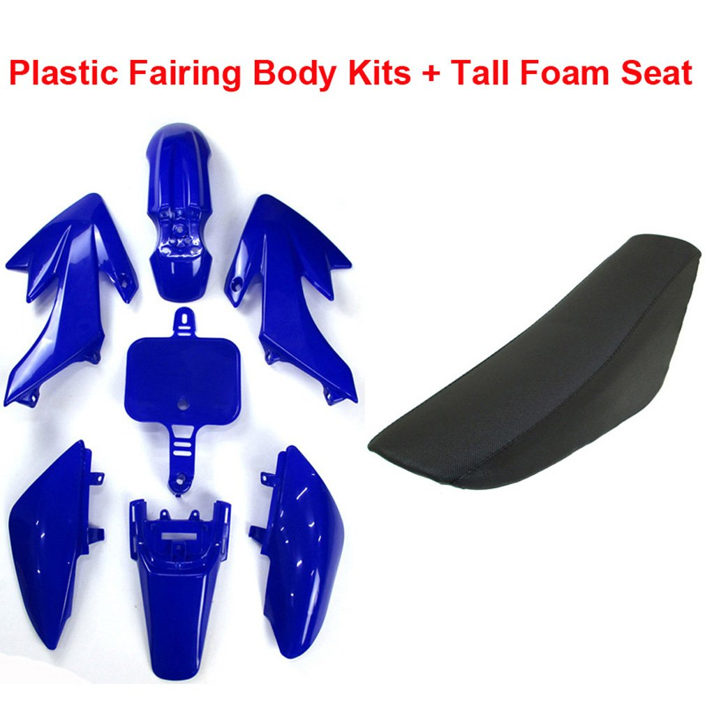 Tall Foam Seat For Honda CRF50 XR50 Pit Dirt Motor Trail Bike 50cc 70cc 90cc 110cc 125cc 140cc 150cc 160cc Chinese SSR YCF IMR Atomik Thumpstar BSE Apollo TC-Motor Plastic Fairing Body Kits Orange