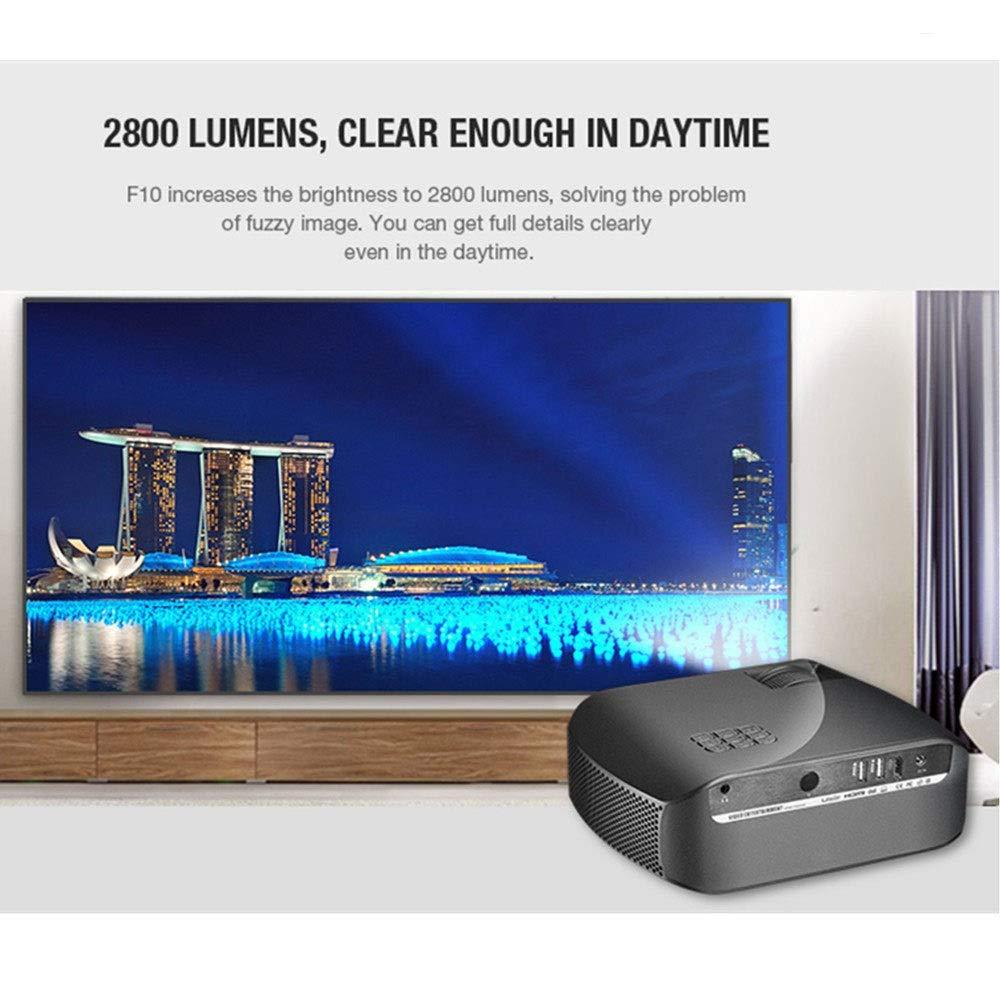 Proiettore video 2800Lux Screen Mirroring con cavo HDMI USB VGA AV Color : Black Smartphone tablet portatile compatibile YZPTYY Proiettore HD Mini Home Proiettore Supporto 1080P
