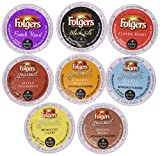 40 Count - Folgers ALL Coffee K Cup Variety Pack (8 Flavors, 5 K-cups Each)