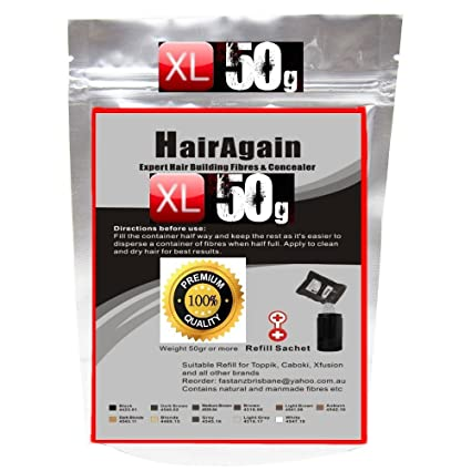 haira Gain XL Hair Fibers ~ 50 g de Premium Deluxe ~ XL ...