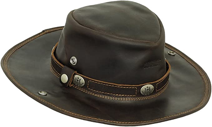 Scippis Buffalo Westernhut Cowboyhut Lederhut Büffelleder Hut Hüte