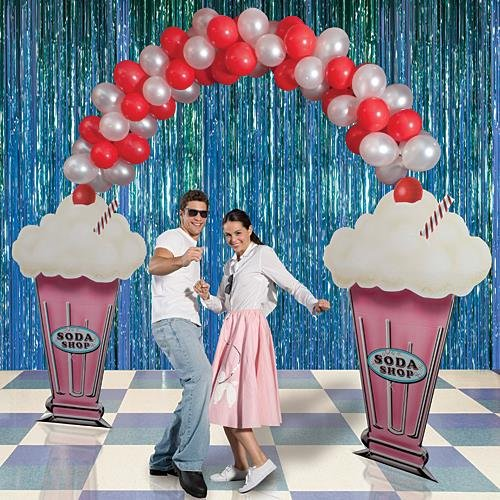 Soda Shop Entrance Standee Fifties Party Prop by Shindigz