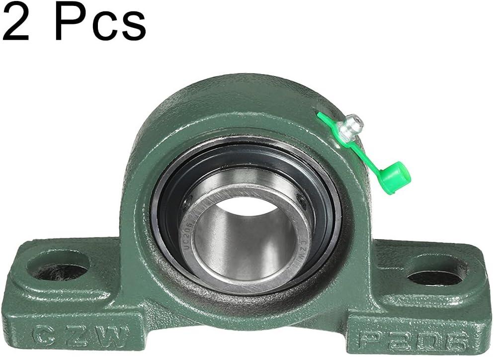 sourcingmap 2 St/ück Selbstausrichtung Stehlager UCP210 50mm montiert Lagerung DE de