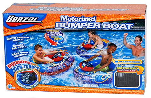 Banzai Aqua Blast Inflatable Motorized Water Blaster Bumper