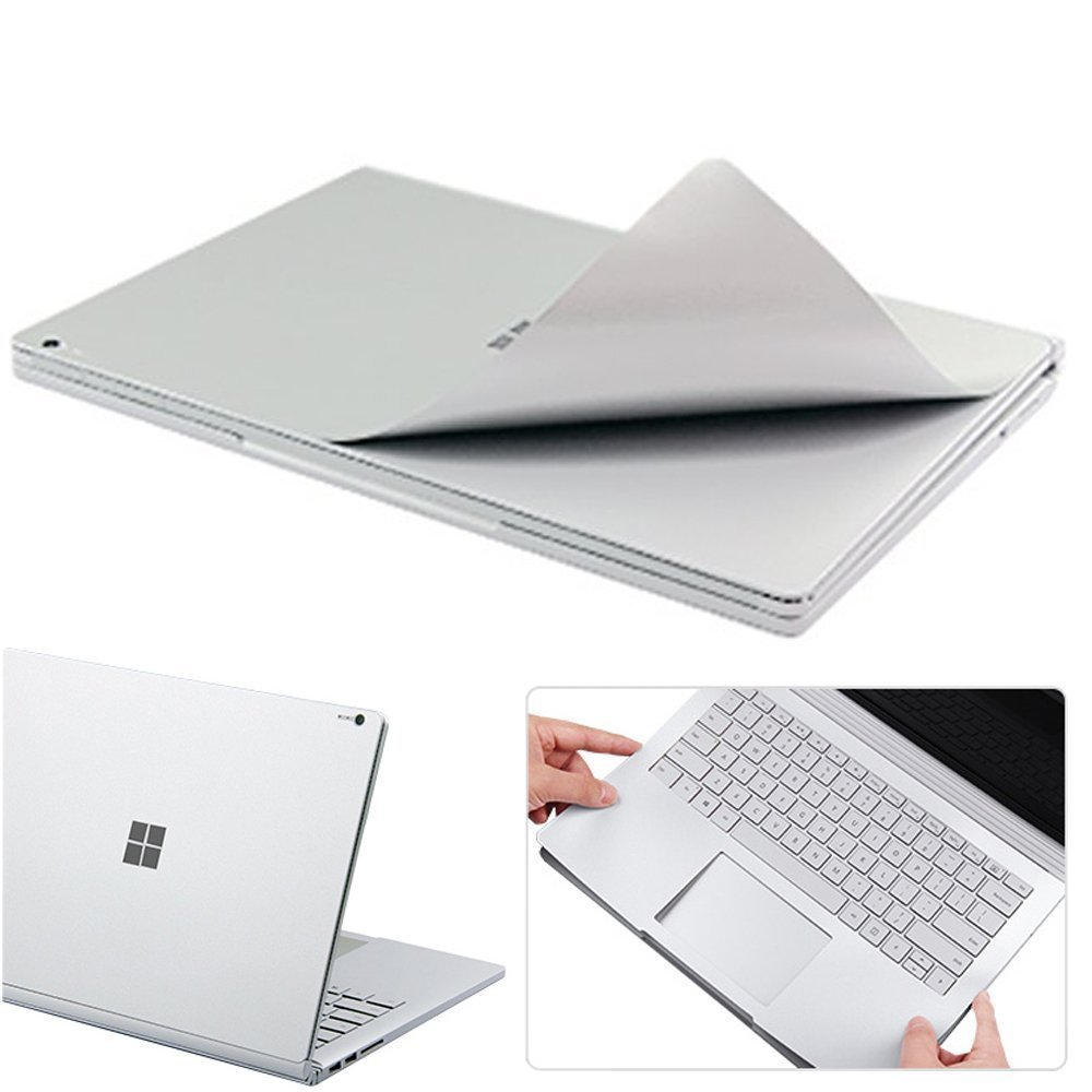 Leze - Surface Book 2 Body Cover Protective Stickers Skins for 13.5'' Microsoft Surface Book 2,3M Decal Decorative - Sliver
