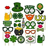 St. Patrick's Photo Booth Party Set, Kiss Me I'm Irish Photo Booth Cutouts Props, Fun Saint Patrick's Selfie Photoshoot Disguise Props, Irish Party Decoration Supplies