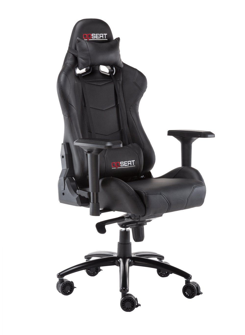 OPSEAT Master Series 2018 PC Gaming Chair Racing Seat Computer Gaming Desk Office Chair - Black