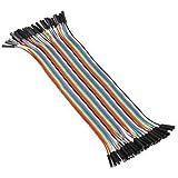 Alambre Dupont hembra a hembra - SODIAL(R) 10cm 2.54mm Alambre Dupont hembra a hembra cable jumper para Tablero de circuitos Arduino