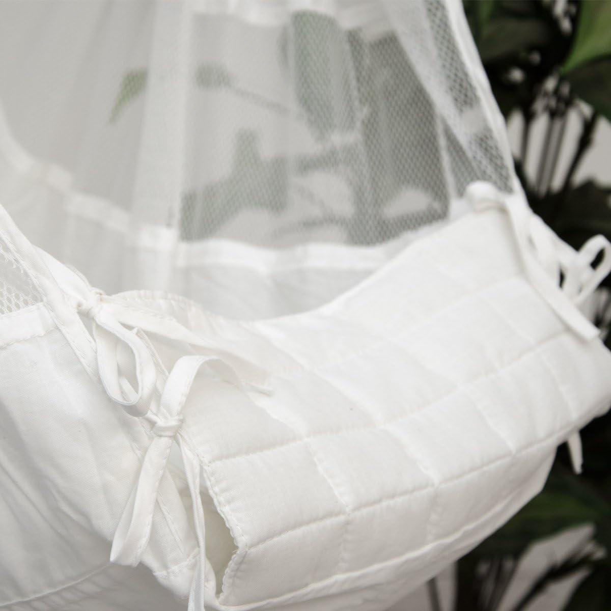 DuneDesign Hamaca para Beb/é 70x36x94cm cuna silla colgante infantil Blanco